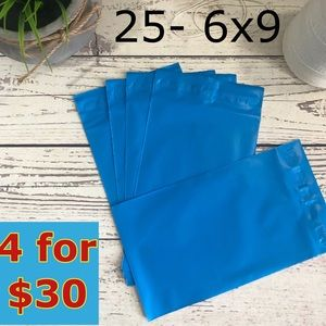 25- 6x9 Blue Poly Mailers